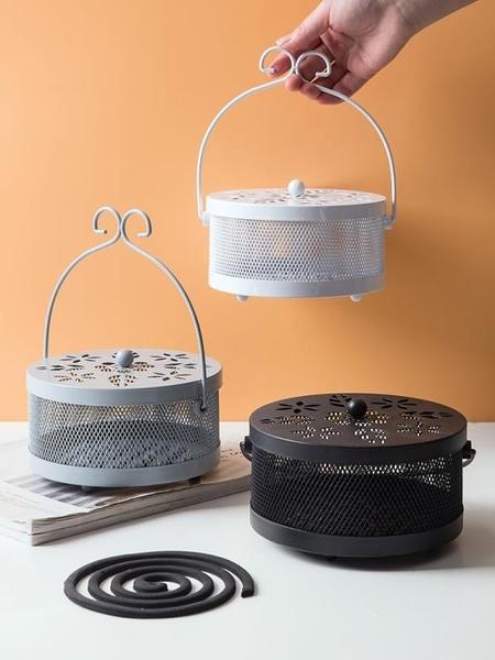 防火蚊香盒蚊香盤蚊香托盤 家用帶蓋香架