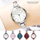 韓國KIMIO時光的對白花玻璃切面金屬鍊帶手錶【WKI6312】璀璨之星☆
