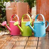 園藝灑水壺澆花壺澆水壺鐵質多肉灑水桶1.5L兒童澆水壺