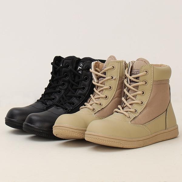兒童軍靴 男女作戰戰術防滑童鞋 登山徒步靴夏令營親子鞋 中秋降價