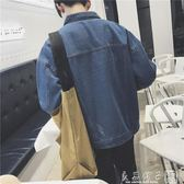 牛仔外套男韓版潮流2019衣服春秋bf風修身帥氣長袖夾克外穿牛仔褂      良品鋪子