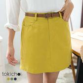 東京著衣-多色活潑俏麗剪裁拼接短裙-S.M(180619)