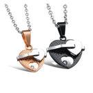 【5折超值價】 【316L西德鈦鋼】最新款歐美風格特色心心相印造型情侶款鈦鋼項鍊