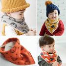 童裝 可愛加絨雙面三角圍兜 可當圍脖 圍巾 口水巾  兩用  橘魔法Baby magic 現貨