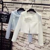 小禮服洋裝外套 韓版短款小香風長袖 西裝外套 花漾小姐【現+預】