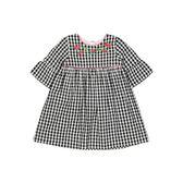 mothercare 黑白格子花短袖洋裝-小島系列(M0SC043)3A~8A