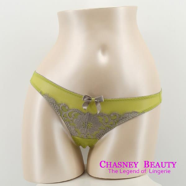 Chasney Beauty-凱特蕾絲B-D緞面內衣(草綠)