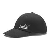 Puma 黑色 帽子 運動帽 老帽 遮陽帽 六分割帽 經典棒球帽 運動帽 02254302