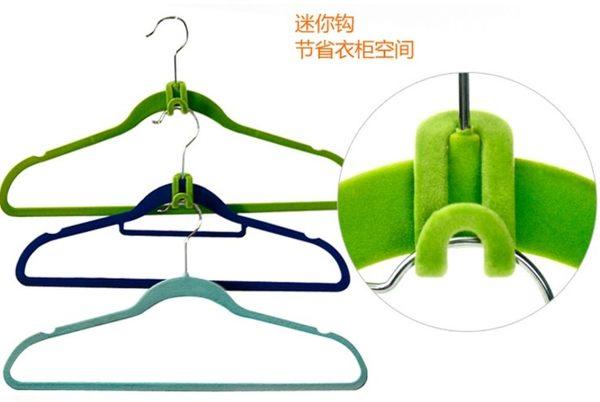 [協貿國際]  創意強力植絨防滑衣架掛鉤 (30個價)