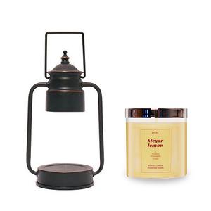 (組)EPOCHSIA x Pray守夜人金屬香氛蠟燭暖燈(S)-復古銅+梅爾黃黃