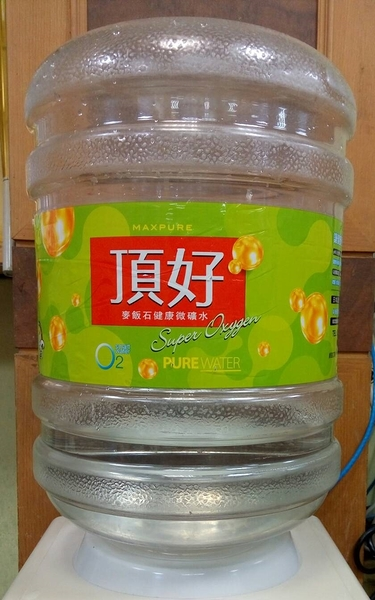 頂好 麥飯石涵氧桶裝水20L X 20瓶 + 立式溫熱飲水機(台北宅配)