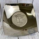 BRAND楓月 VERSACE 凡賽斯 金屬銀色 梅杜莎 造型 凹盤 盤子 方盤 裝飾 擺飾