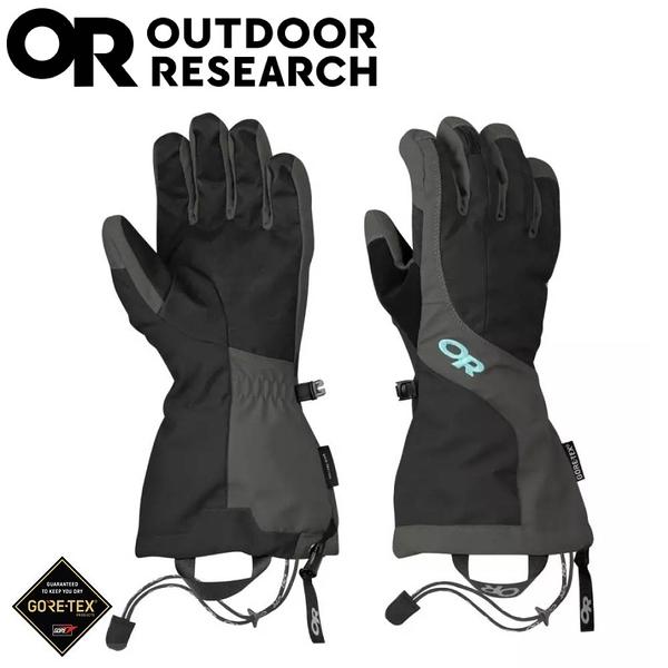 【Outdoor Research 美國 女 ARETE Gore-Tex防水手套《黑/碳灰》】271616/保暖手套/滑雪