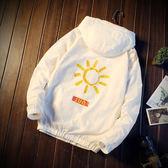 夏季連帽透氣輕薄款防曬衣男外套韓版潮流帥氣太陽防曬服學生夾克-72110