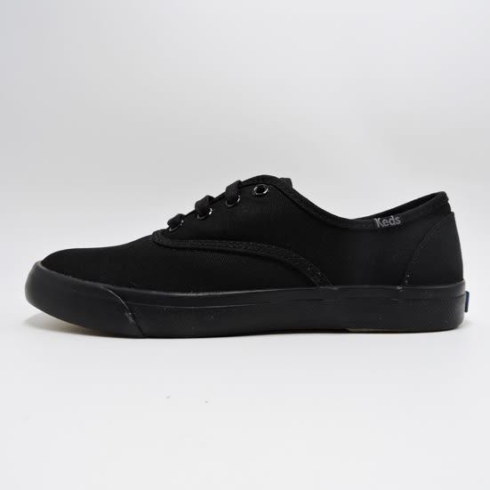 Keds 基本款全黑寬版帆布鞋 NO.KB5605