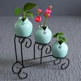 花瓶 花器龍泉青瓷現代簡約家居客廳裝飾擺件工藝品小清新創意陶瓷花瓶-快速出貨