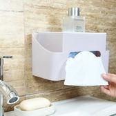 ✭慢思行✭【P541】無痕壁掛紙巾盒 創意 掛壁 面紙盒 抽紙盒 家用 免打孔 衛生間 桌面 遙控