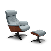 A928單椅+腳凳 灰藍 NL5119 C+O(L008/黑)