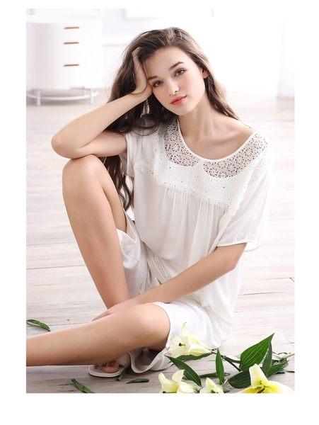 夏季新品純棉睡衣女甜美家居服全棉休閒夏天薄款套裝 -swe0026