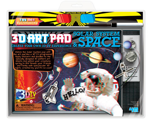 【4M】03703 美勞創意-3D太空藝術畫版 3D Art Pad Solar System & Space