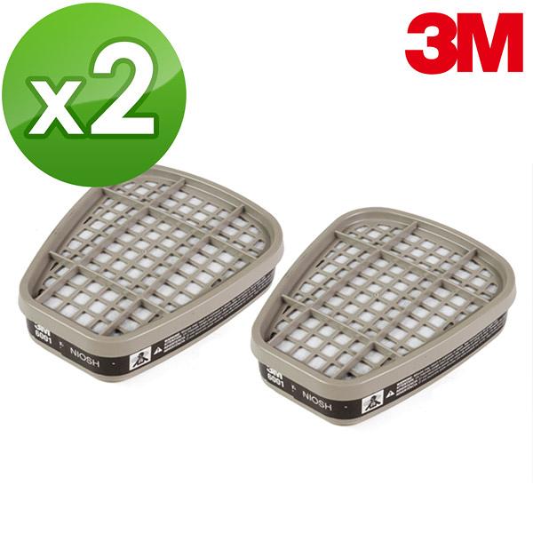【醫碩科技】3M 6001有機氣體濾毒罐 2入 噴漆/烤漆/化學工廠作業 適用3M 6200/6800防毒口罩