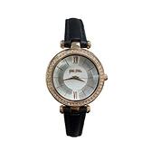 【Folli Follie】Lady Bubble極緻晶耀真皮時尚腕錶-晶鑽黑/WF16B009SPS_BK/台灣總代理公司貨享兩年保固