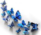 自粘墻紙仿真蝴蝶墻貼畫3d立體冰箱貼磁貼玻璃貼紙房間窗簾裝飾品 初色家居馆