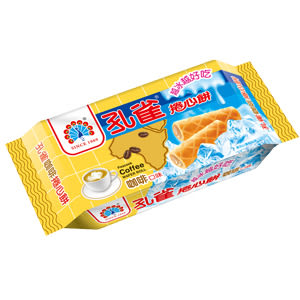 ●孔雀捲心餅63g-咖啡口味-單包