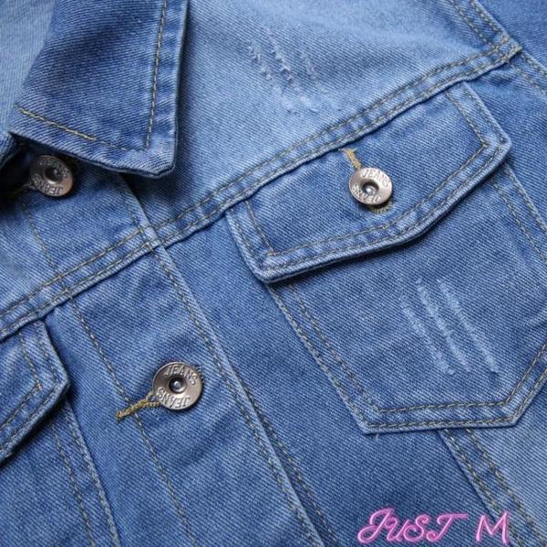 牛仔外套牛仔外套女新款韓版女裝春秋長袖夾克衫百搭顯瘦棒球服上衣潮 JUST M