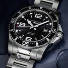 LONGINES浪琴 征服者300米64小時動力儲存機械錶-黑/41mm L37424566