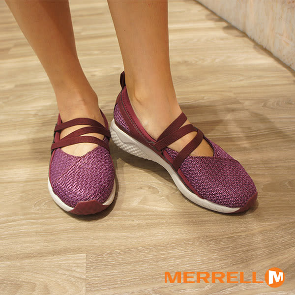 【MERRELL促銷8折】MERRELL1SIX8 MJ AC+ 輕量透氣休閒娃娃鞋 女鞋 醇紫紅
