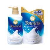 (限時優惠組合包)日本牛乳石鹼-美肌保濕沐浴乳(藍-優雅花香) 550ML+補充包430ml