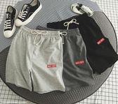 夏季沙灘褲男鬆緊腰運動短褲男士青少年寬鬆五分休閒褲子潮流中褲『新佰數位屋』