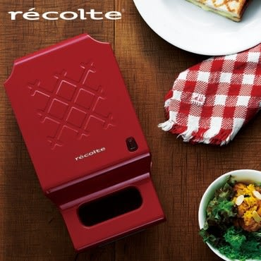 recolte日本麗克特Quilt格子三明治機 甜心紅 RPS-1(R)