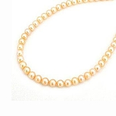 天然粉紅色珍珠項鍊