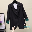 小西裝 純色西裝外套女2019春秋季新款韓版休閒時尚職業裝氣質小西服潮 2色S-XL