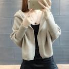 2020春秋裝披肩小外套女士連帽斗篷式蝙蝠型短款毛衣針織開衫新款 韓國時尚週