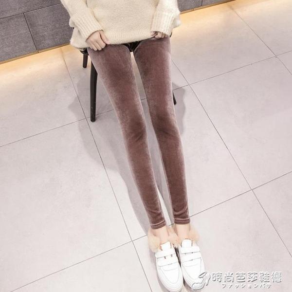 絲絨打底褲女薄款春秋新款九分高腰顯瘦緊身小腳鉛筆秋冬外穿 時尚芭莎
