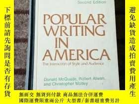 二手書博民逛書店Popular罕見writing in America: The
