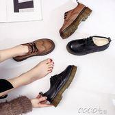 小皮鞋女 小皮鞋女原宿加絨英倫學院風復古學生鞋軟妹加棉保暖平底女鞋 新品