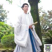 漢服 重回漢唐漢服男霜天月明日常中國風刺繡大氅傳統禮服外套春秋冬裝 小宅女大購物