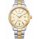 CITIZEN星辰 經典簡約格紋機械錶 NK0004-94P