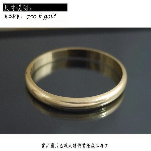 ╭☆ Gold shop ☆╯ 14K 黃K金 手鐲 橢圓形 各種尺寸皆可詢問 [ kb 002 ]-3.50
