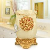 歐宴歐式情侶漱口杯結婚刷牙杯子創意牙缸樹脂洗漱杯套裝浴室用品第七公社