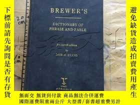 二手書博民逛書店Brewer s罕見Dictionary of Phrase a