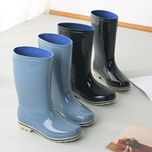 雨靴 雨鞋女中筒時尚水鞋防滑防水加絨保暖膠鞋成人雨靴膠套鞋工作鞋 維多原創