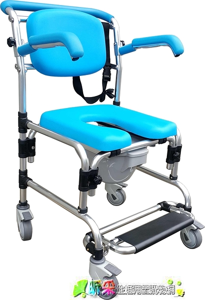 多功能推椅/洗澡椅/便盆椅便器椅 加贈坐墊蓋