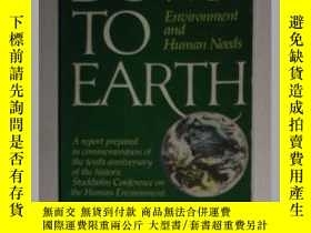 二手書博民逛書店英文原版罕見Down to Earth by Erik P. E