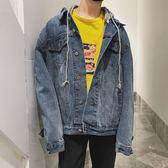 秋季韓版接帥氣青少年牛仔外套寬鬆潮流外套