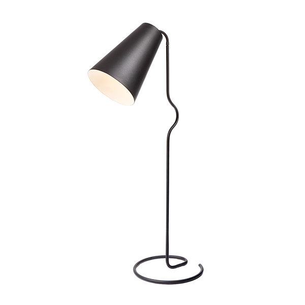 挪威 Northern Lighting Bender Floor Lamp 班德 曲線 立燈(霧面黑色)